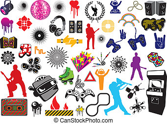 Game Elements - Vector game elements.
