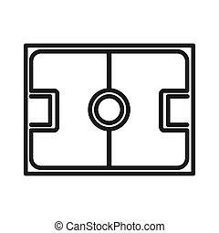 game field illustration design