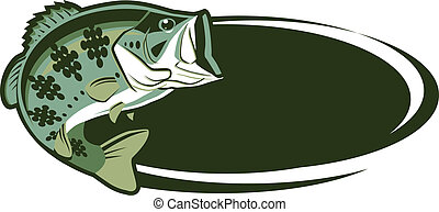 Game Fish - Game fish with oval area for message