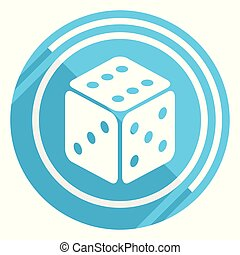 Game flat design blue web icon, easy to edit vector illustration for webdesign and mobile applications
