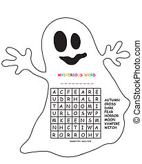 crossword for halloween - game for children: crossword for...