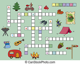 game for children: crossword with illustrations