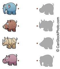 Game for children - Vector Illustration of make the right...