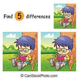 Game for children find differences - Boy