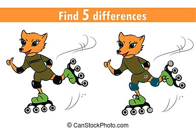 Game for children: find differences