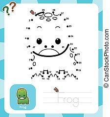 Game for children - Vector Illustration of Education dot to...