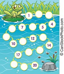 Game for children - Vector Illustration of Education Numbers...