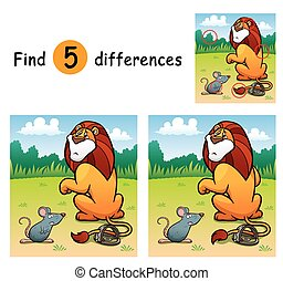 Game for Kids - Vector Illustration of Game for children...