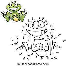 Game for Kids - Vector Illustration of Education dot to dot...