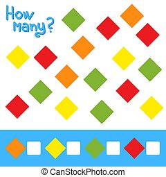 Game for preschool children. Count as many squares in the ...
