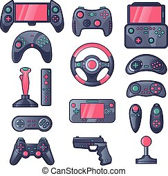 Game Gadget Color Icons Set