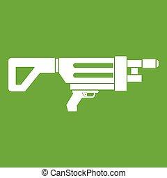 Game gun icon green
