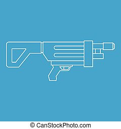 Game gun icon, outline style