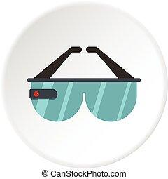 Game headset icon circle