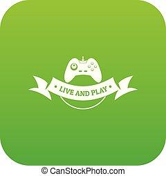 Game icon green vector