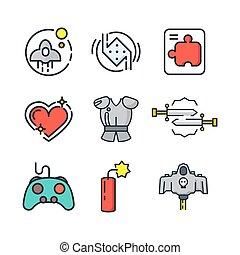 game icon set color