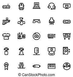 Game Icon Set Design Line Style