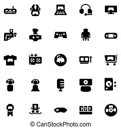 game icon set design solid style