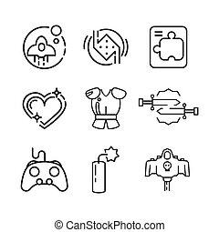 game icon set icon