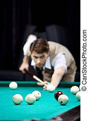 Game in billiards