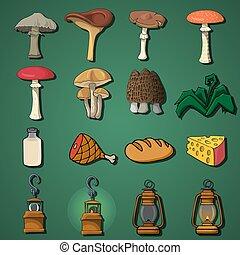 game items. flat illustration