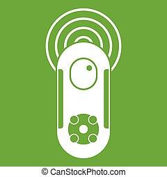 Game joystick icon green