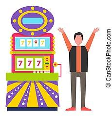 Game Machine Luck, Lucky Sevens Happy Gambler