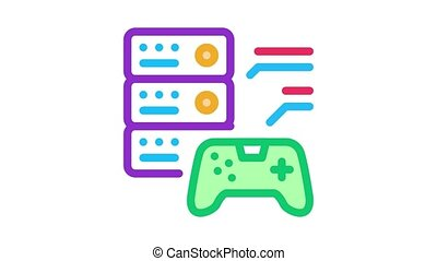 game main menu Icon Animation. color game main menu animated icon on white background