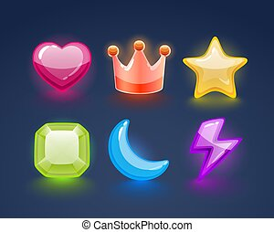 Game match icon. sign set in different colors. Vector