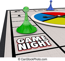 Game Night Family Time Fun Competition Board Pieces - Game...