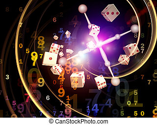 Game of Chance - Interplay of dice, roulette wheel elements...