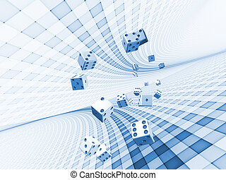 Interplay of dice and technological background on the subject of chance, luck, risk, mathematics and computation in modern business and technology