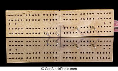Game of cribbage detail up close