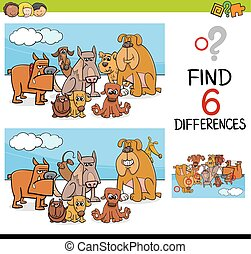 game of differences with dogs