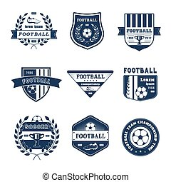 Game of Football - vintage vector set of logos
