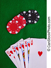 royal flush - game of poker royal flush showing