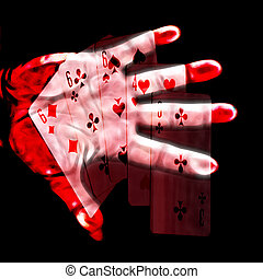 game of poker - abstract scene game of poker