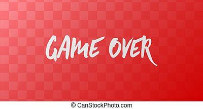 Game Over computer screen. Simple vector illustration