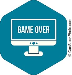 Game over icon in simple styl