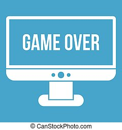 Game over icon white
