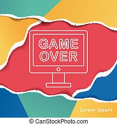 game over line icon