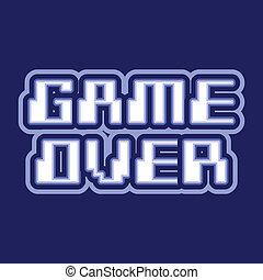 Game over logo design