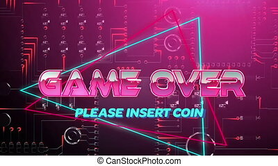 Game over please insert coin game screen