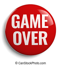 Game Over Red 3D Icon