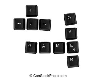 GAME OVER sign written on a keyboard