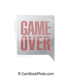 game over speech bubble illustration design over a white...
