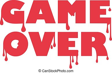Game over with blood drops