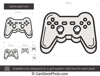 Game pad line icon.