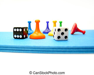 Game Pieces 2 - Game playing pieces from a board game set.