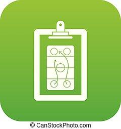 Game plan icon digital green